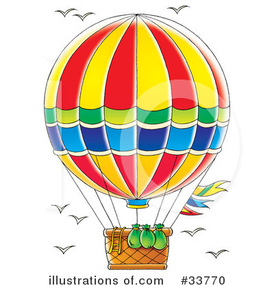 Hot Air Balloon Clipart #33770.