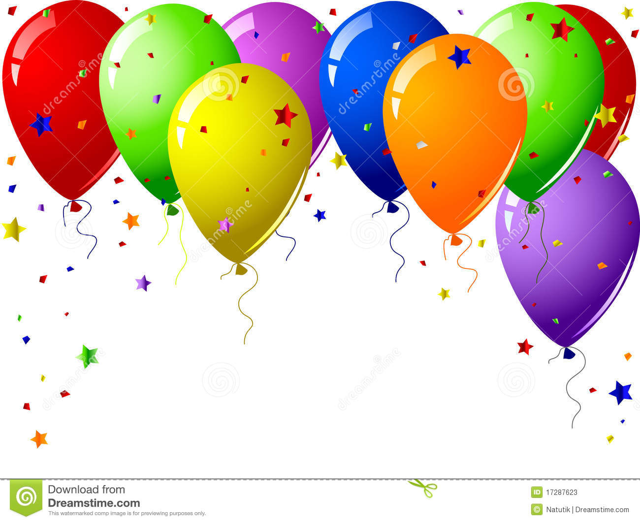 Balloons And Confetti Clipart & Free Clip Art Images #27757.