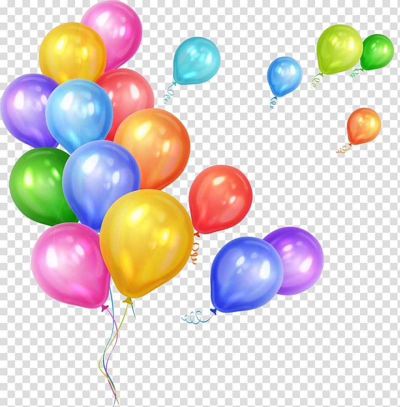 Assorted color balloons illustration, Gas balloon Party.