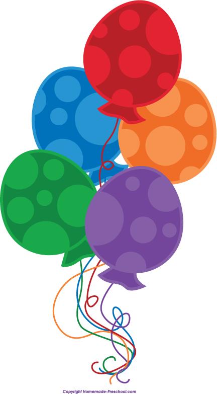 Free Birthday Balloons Clipart.