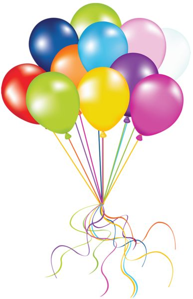 Balloons Clip Art Transparent Background.
