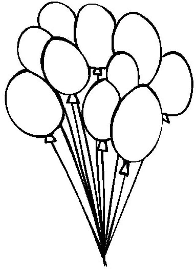Balloons Black And White.