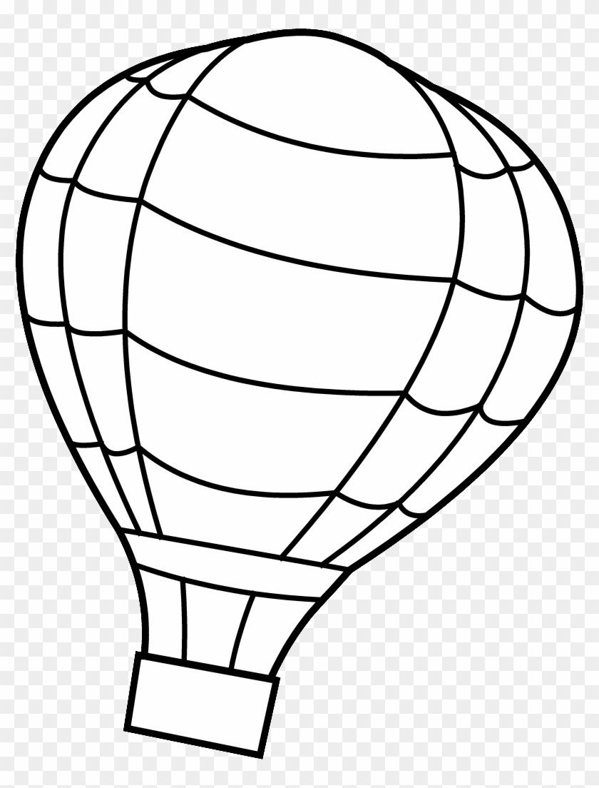 Free hot air balloon clipart black and white 4 » Clipart Portal.