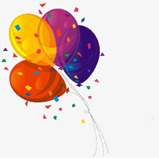 Confetti Balloon, Confetti Clipart, Balloon Clipart, Yellow PNG.