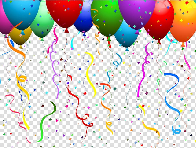 Balloon Confetti Party , Confetti transparent background PNG clipart.