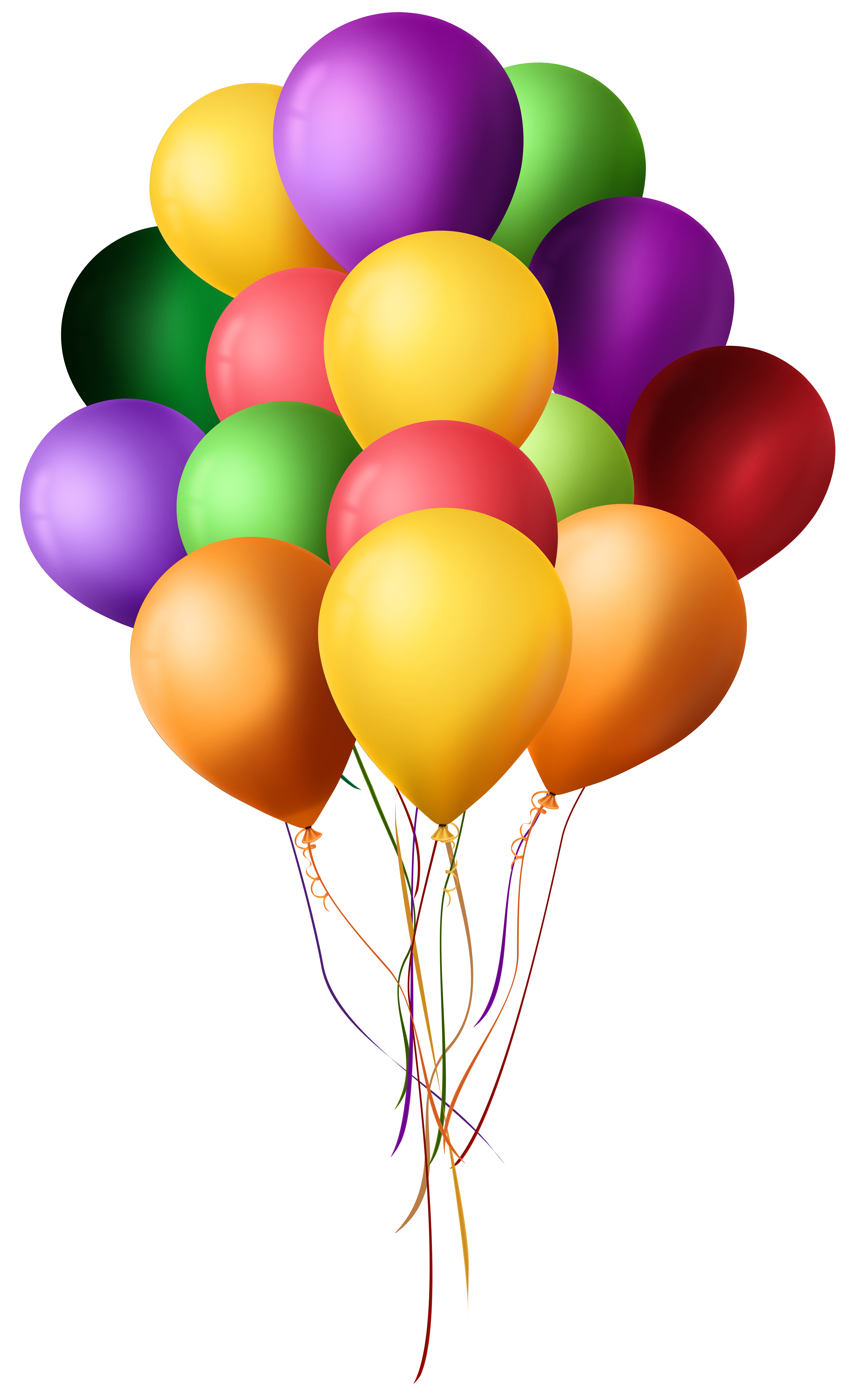 Bunch of Balloons PNG Clip Art.