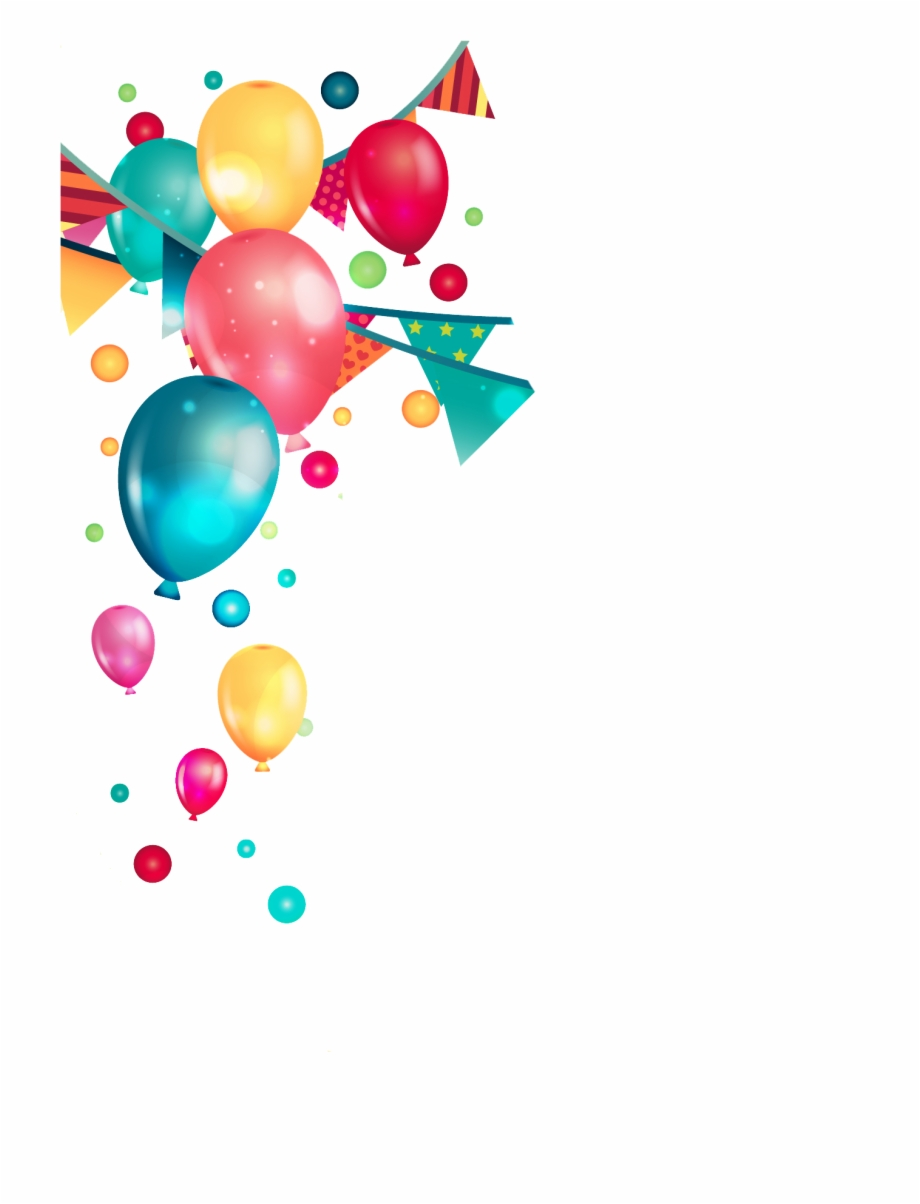 Birthday Party Balloons Png.