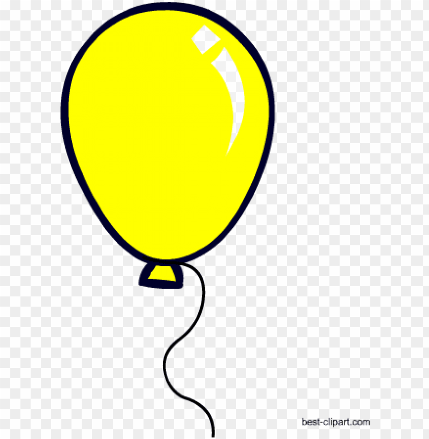 yellow balloon free clip art.