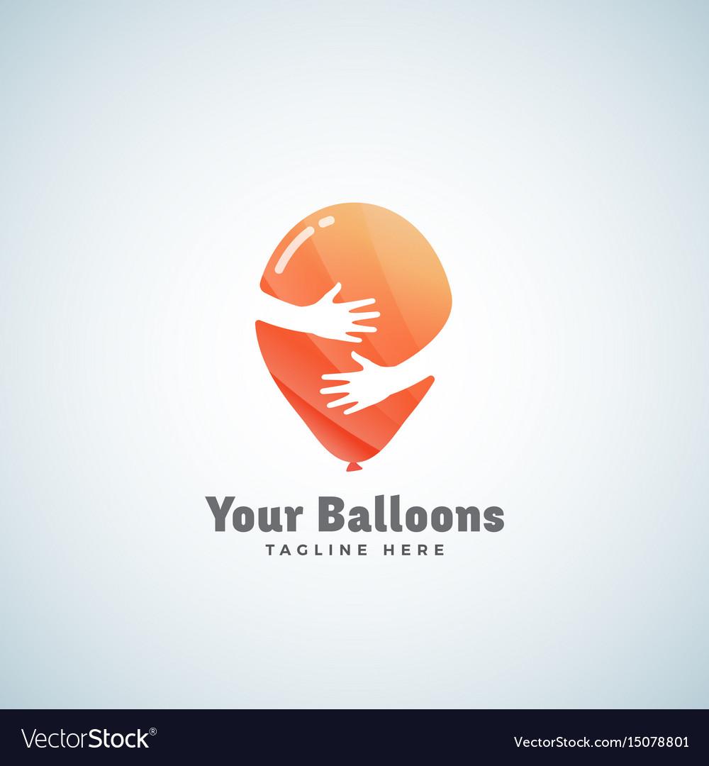Balloons abstract sign emblem or logo.