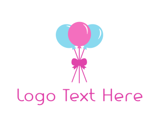 Party Balloons Logo.