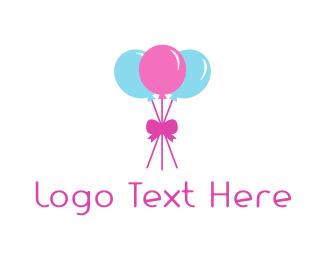 Party Balloons Logo.