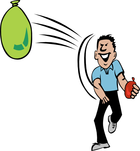 Water Balloon Throw At Clkercom Vector Online clipart free image.