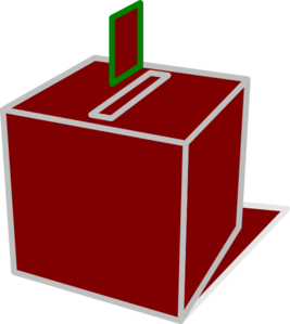 Clipart ballot box.