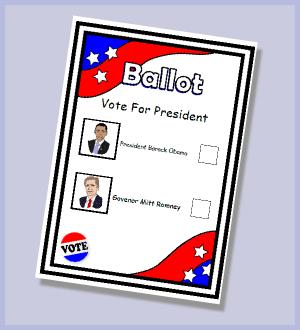 Clipart voting ballot.