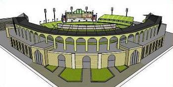 Baseball stadium clipart.