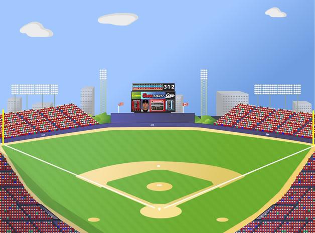 Baseball park clipart.