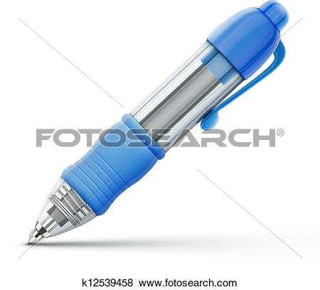 Clip Art of ballpoint pen k12539458.