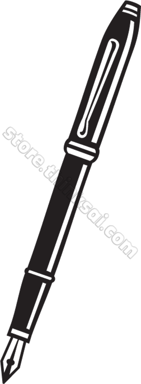 Ink pen clipart black and white.