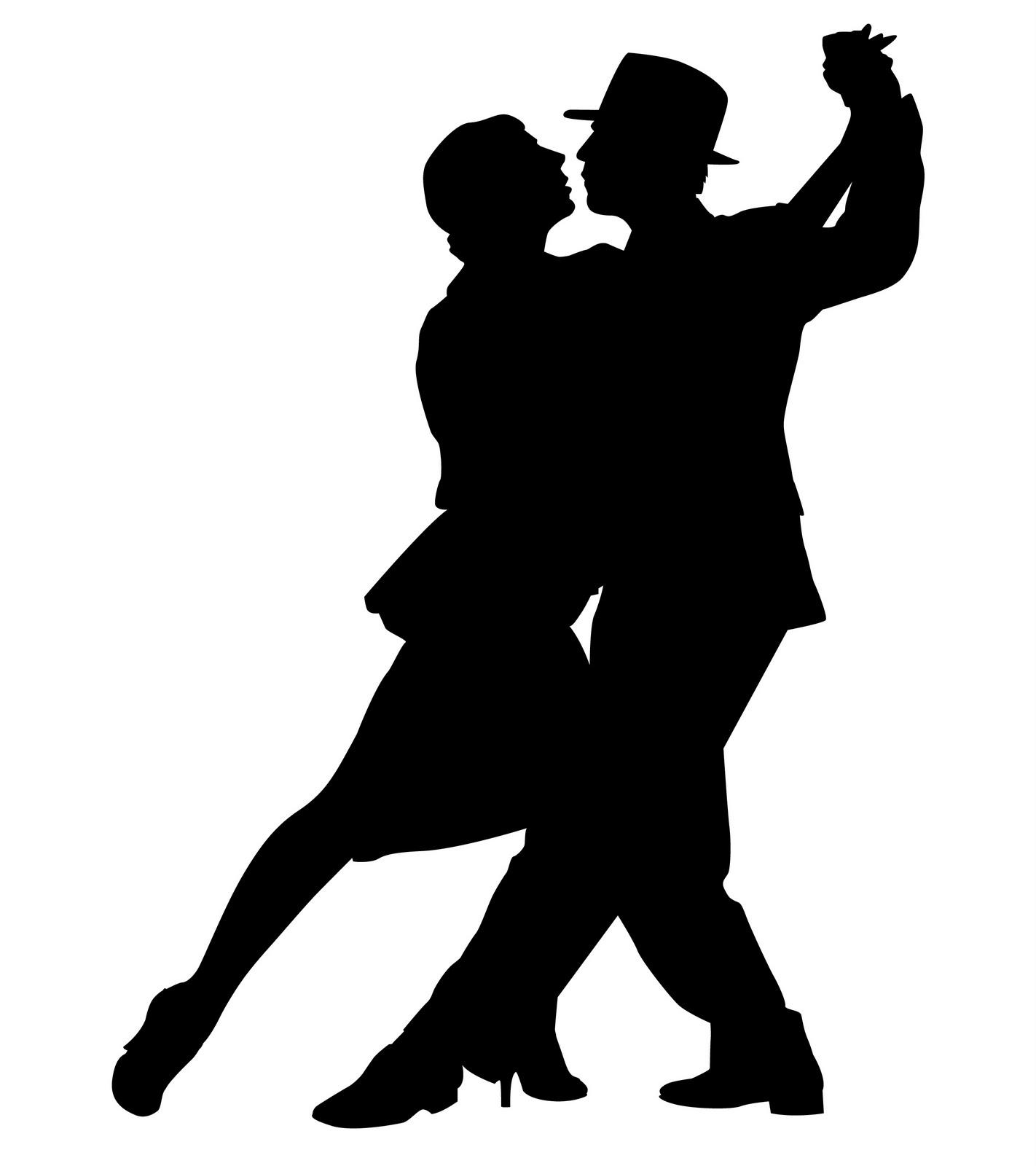 Ballroom dance silhouette clip art.
