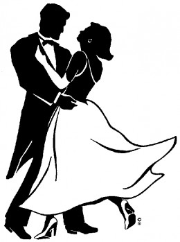Clipart ballroom dancing couple.