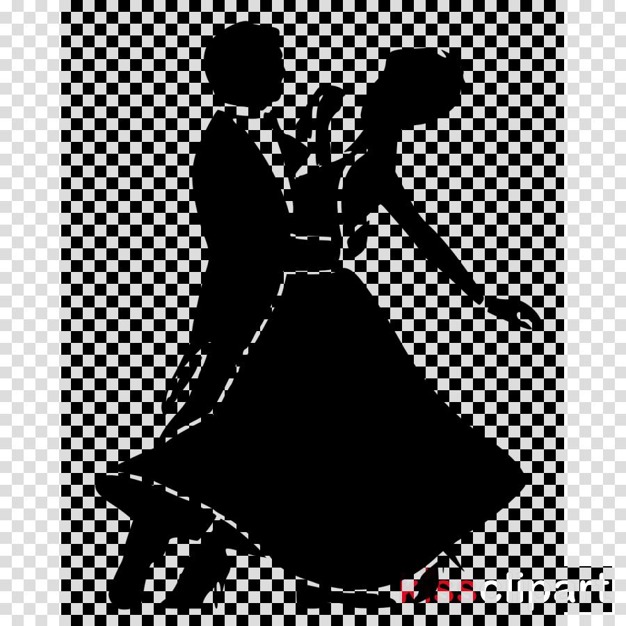 silhouette ballroom dance dance black.