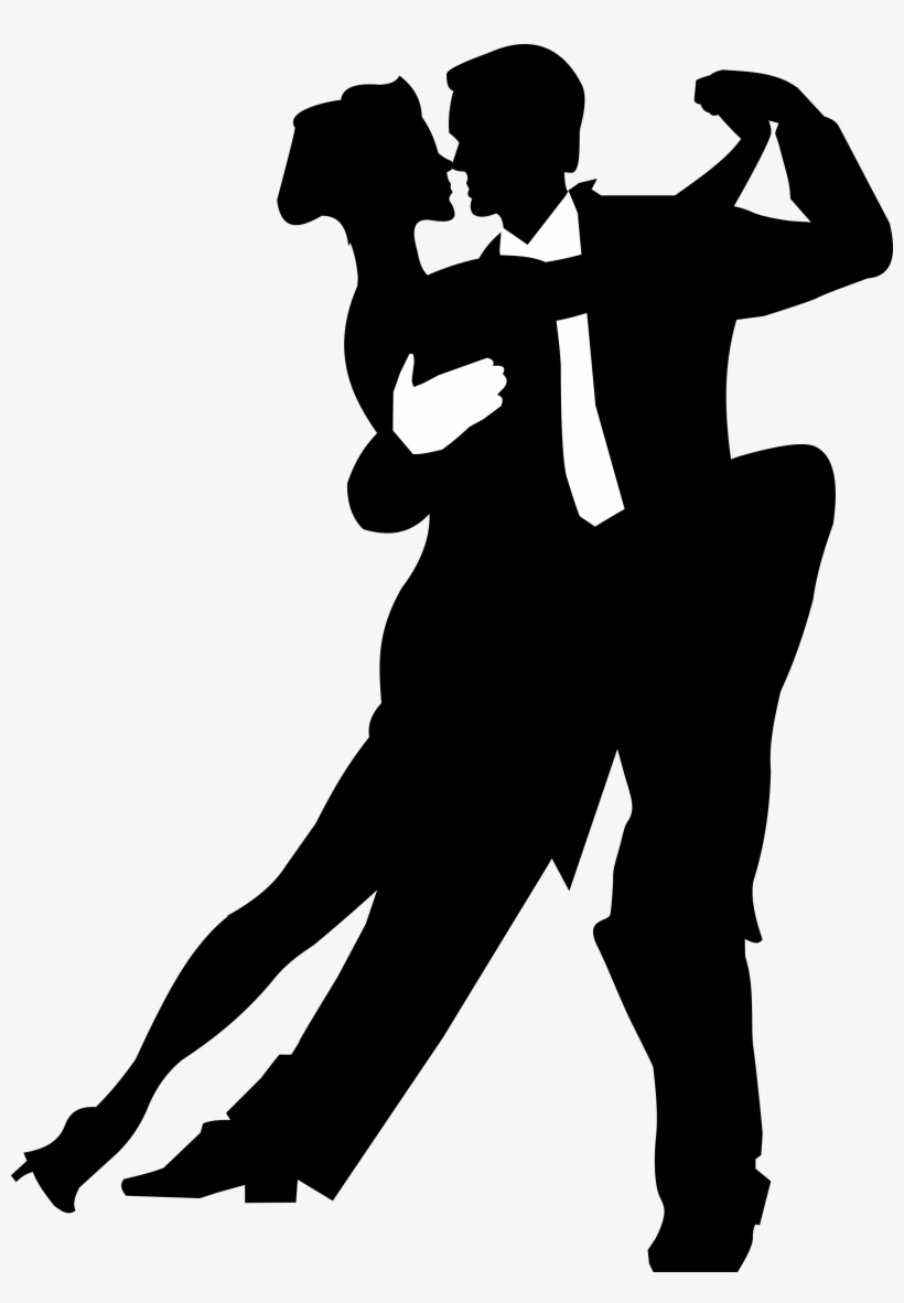 Salsa Dance Silhouette Png Image.