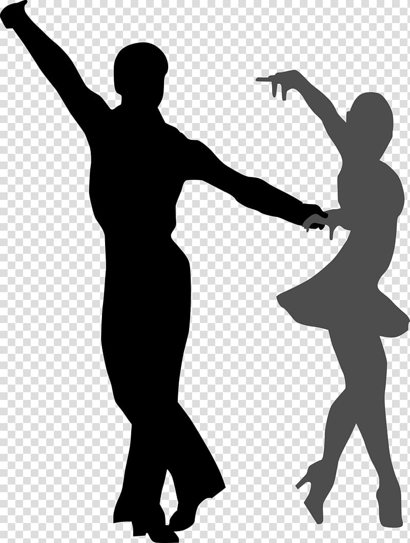 Silhouette of man and woman dancing, Ballroom dance , Dancing.