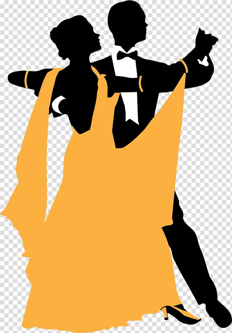 Couple dancing silhouette illustration, Ballroom dance Swing.