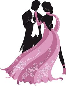 Ballroom Dance Clipart Silhouettes.