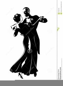 Ballroom Dancing Clipart Silhouette.