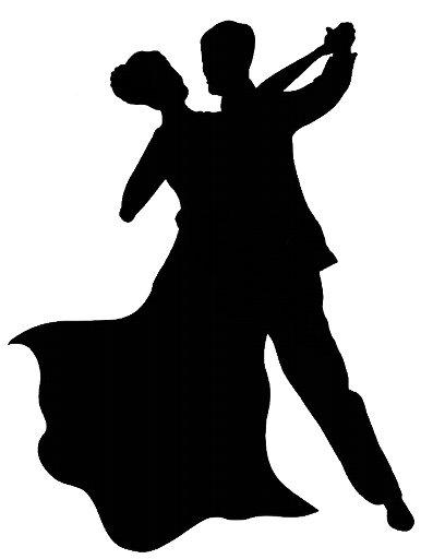 Ballroom Dancers Silhouettes.
