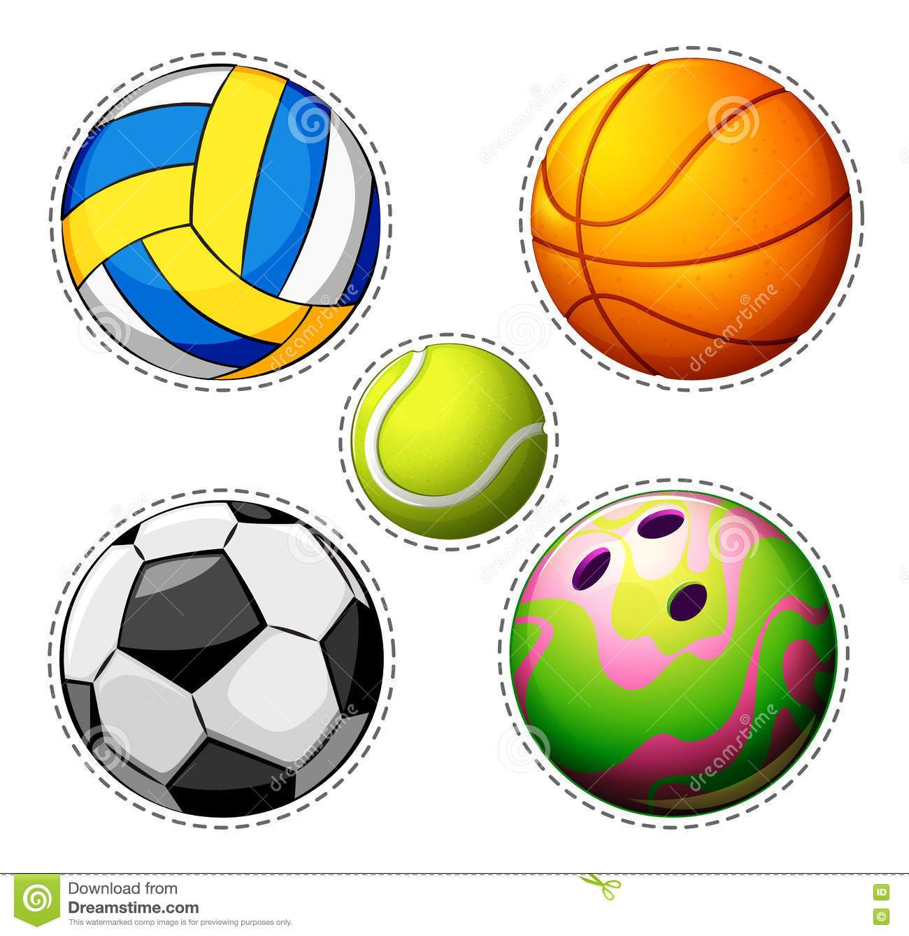 Different types of balls clipart 8 » Clipart Portal.