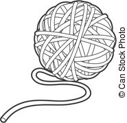 Ball of yarn Clip Art Vector Graphics. 882 Ball of yarn EPS clipart.