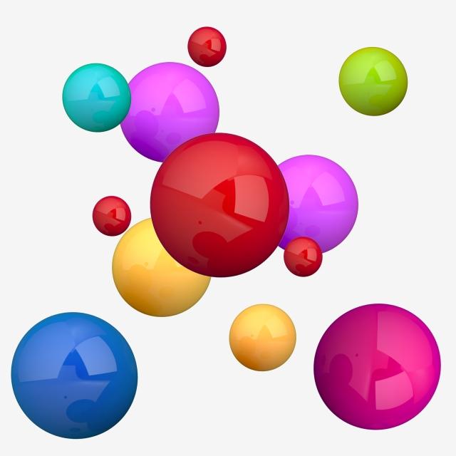 Multicolor Flying 3d Balls, Ball, 3d, 3d Balls PNG Transparent.