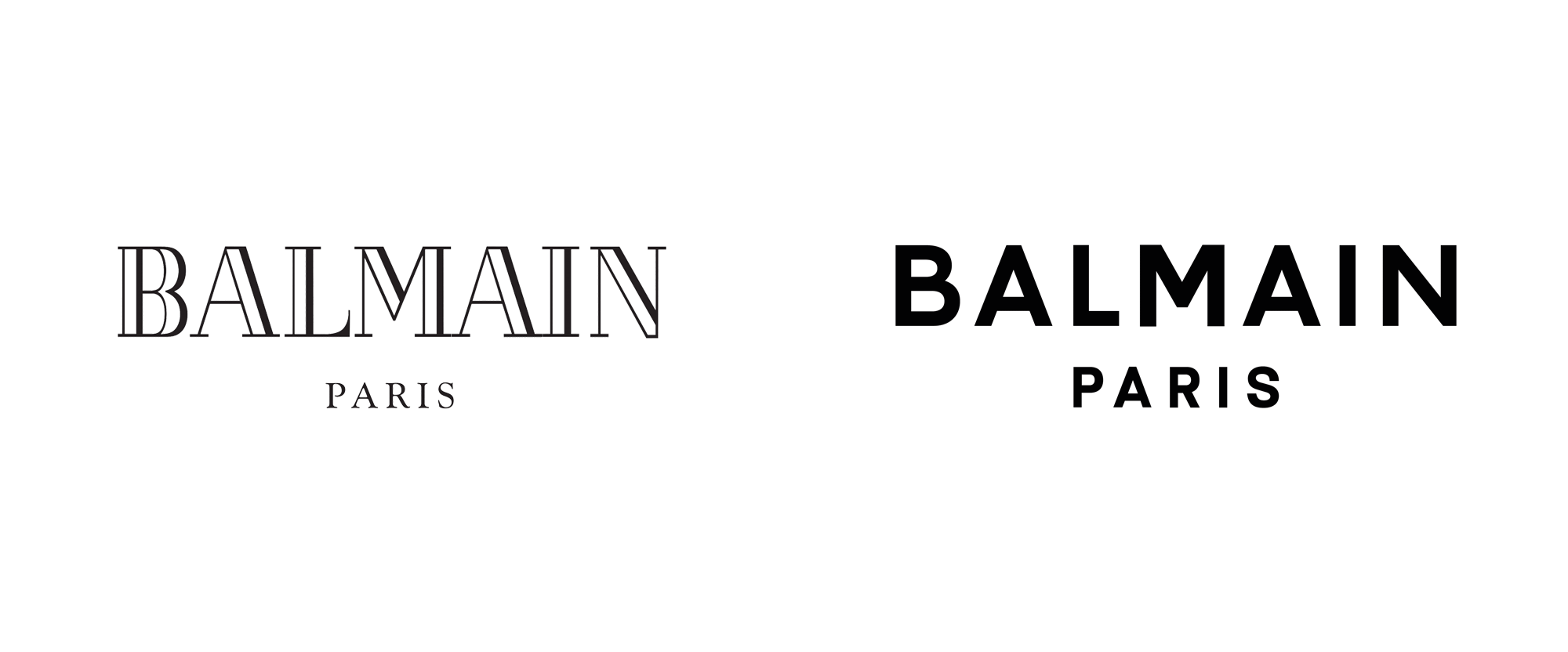 Brand New: New Logo for Balmain by Adulte Adulte.