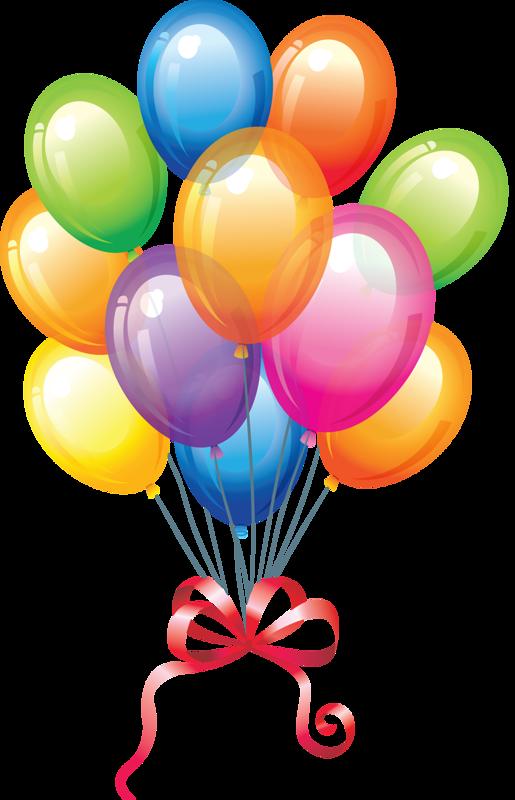 Single modern blue balloon clipart image birthday clip 2.