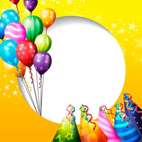 fundo de festa de aniversário, balão de aniversário papel de.