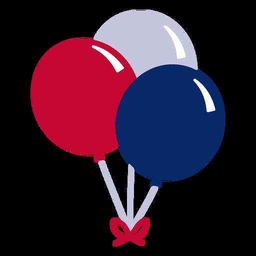 Elemento de design de balões americanos.