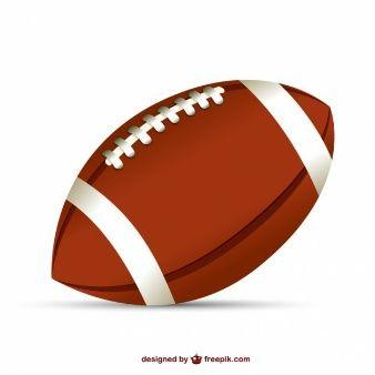 Balón de fútbol americano.
