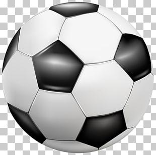 Ilustración de balones de fútbol blanco y negro, fútbol.