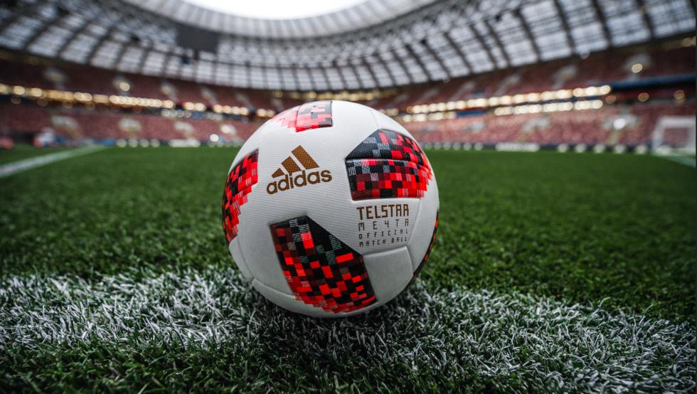 El nuevo balón de la semifinal del Mundial de fútbol de Rusia 2018.