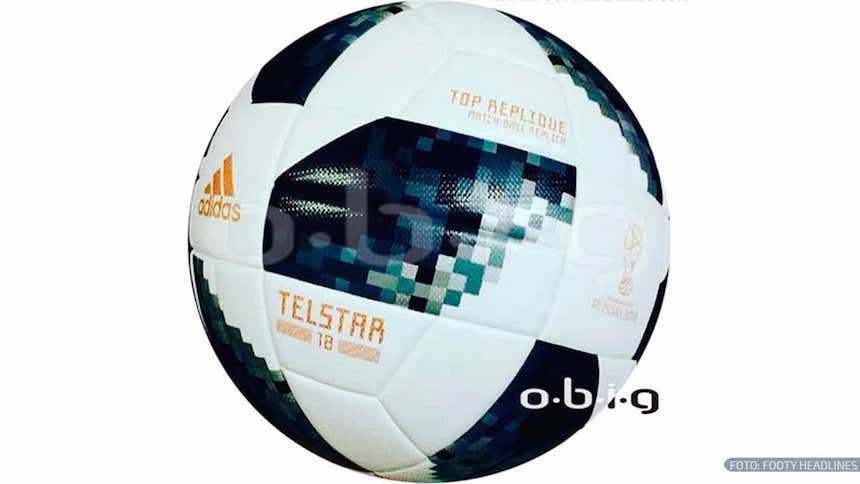 Se filtró el Telstar 18: el balón del Mundial de Rusia.