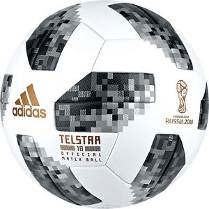 Detalles de Adidas Telstar 18 FIFA World Cup 2018 Rusia oficial coincide  con balones tamaño 5.