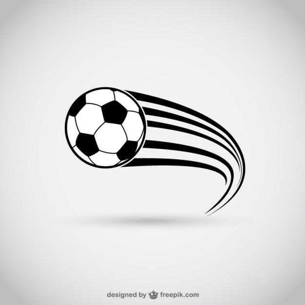 Balón de fútbol en movimiento.