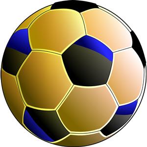 Balon de futbol azul clipart, cliparts of Balon de futbol azul free.