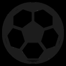 Pelota de futbol 3d.