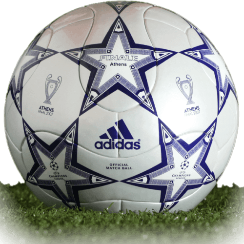 Adidas Finale Athens is official final match ball of Champions League.