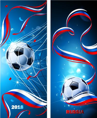 Vector Clipart: Banners de Gol en Rusia 2018.