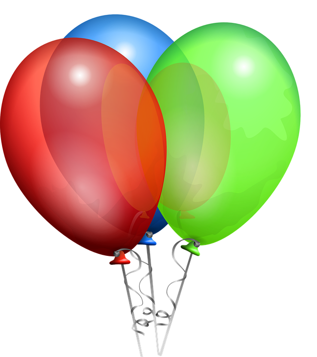 Balloon Party Clip art.