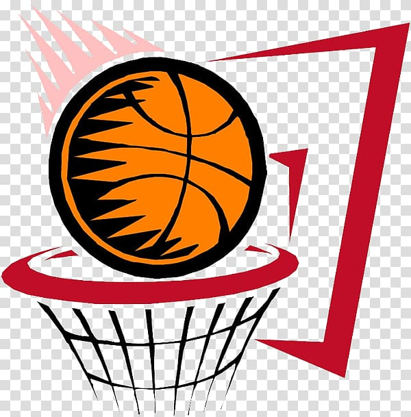 El Baloncesto NBA Basketball, Basketball into the box transparent.